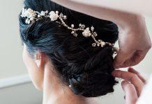 Wedding hair vines